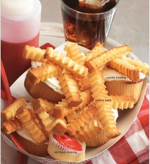 how to make french fries cake