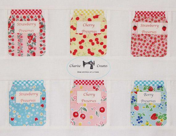 Jam Jars and Fruit  a Paper Piecing Pattern por ChariseCreates