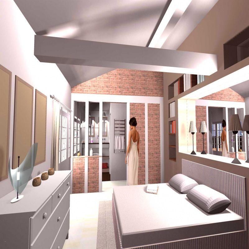 50 Amenagement Chambre A Coucher Avec Salle De Bain 2019 Salle