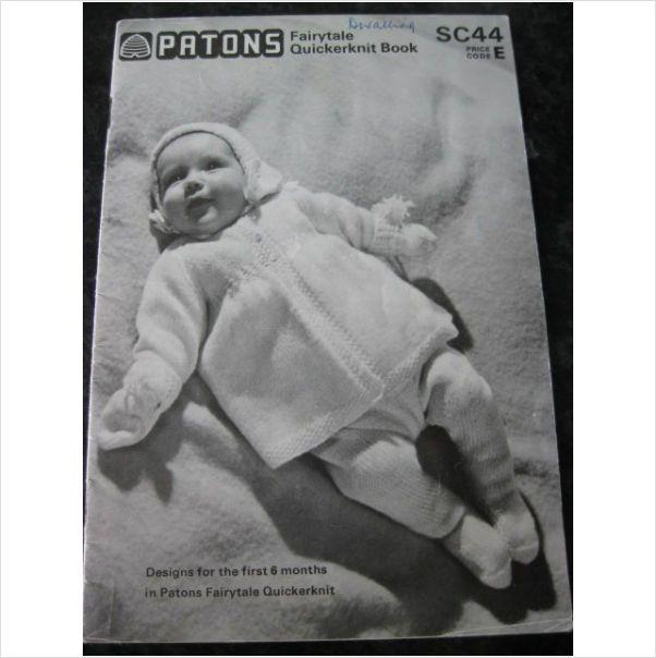 Patons knitting pattern Sc44 babies layette first 6 months on eBid ...
