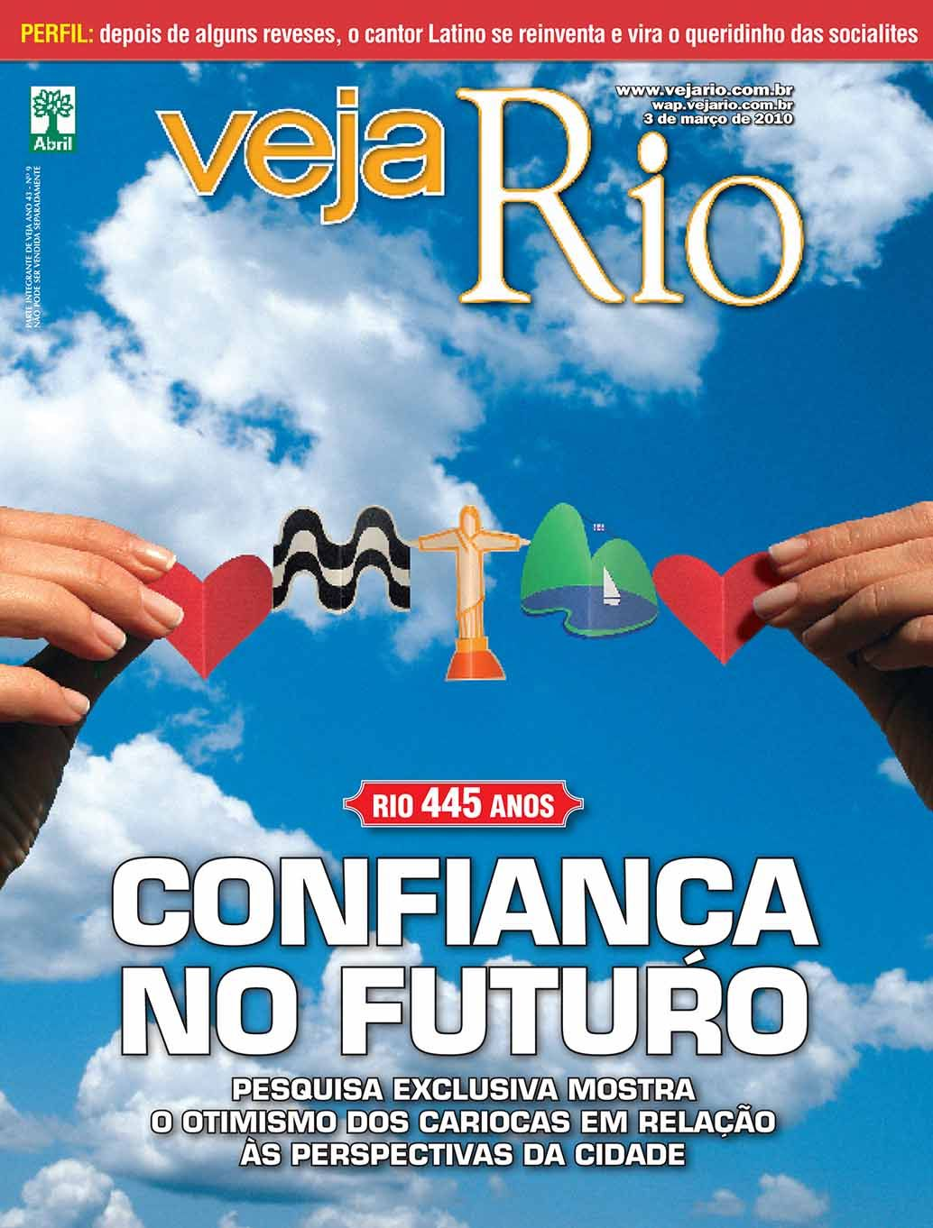 My work: illustration made out of paper sculpture. Cover page Veja Rio magazine.
