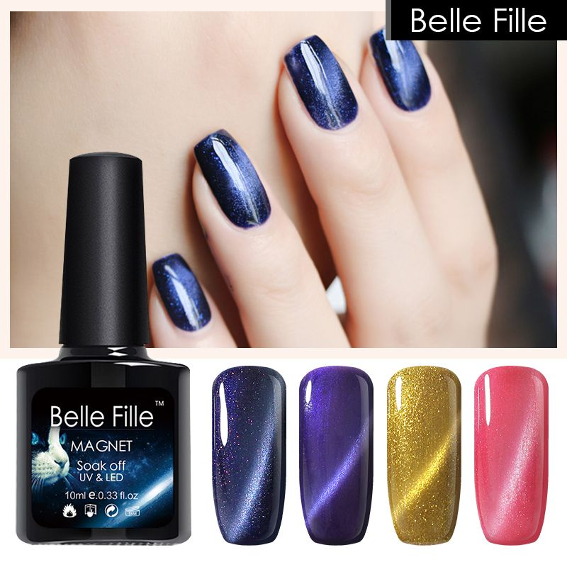 Belle Fille Cat Eye Gel Esmalte de Uñas Empapa Del Brillo 3D Off UV ...
