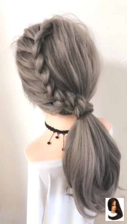 Frisur Hairstyle Videos Mit Schone Schragen Zopfen Beautiful Hairstyle With Slopin Geflochtene Frisuren Mittellange Haare Frisuren Einfach Flechtfrisuren
