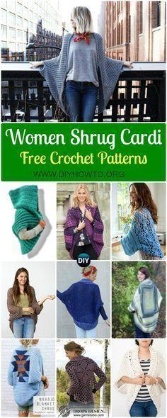 Crochet Women Shrug Cardigan Free Patterns Crochet Woman Shrug