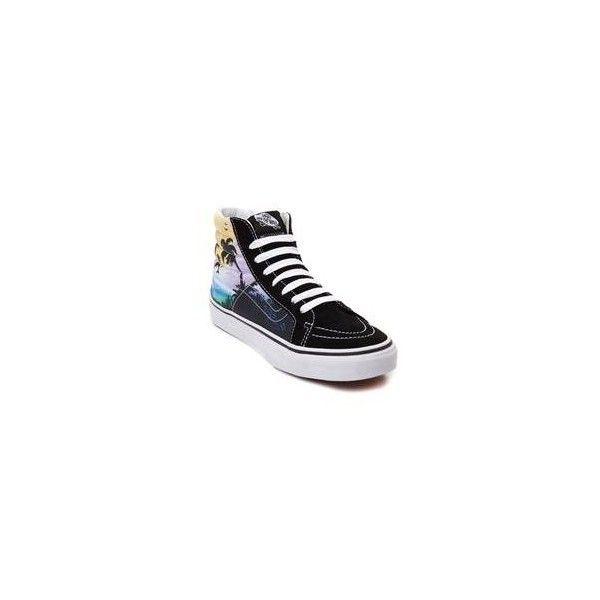 0158a576c8 Vans Sk8 Hi Slim Dolphin Beach Skate Shoe via Polyvore featuring shoes