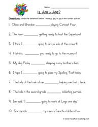 Is Am Are Worksheet 1 With Images Verb Worksheets Is Am Are