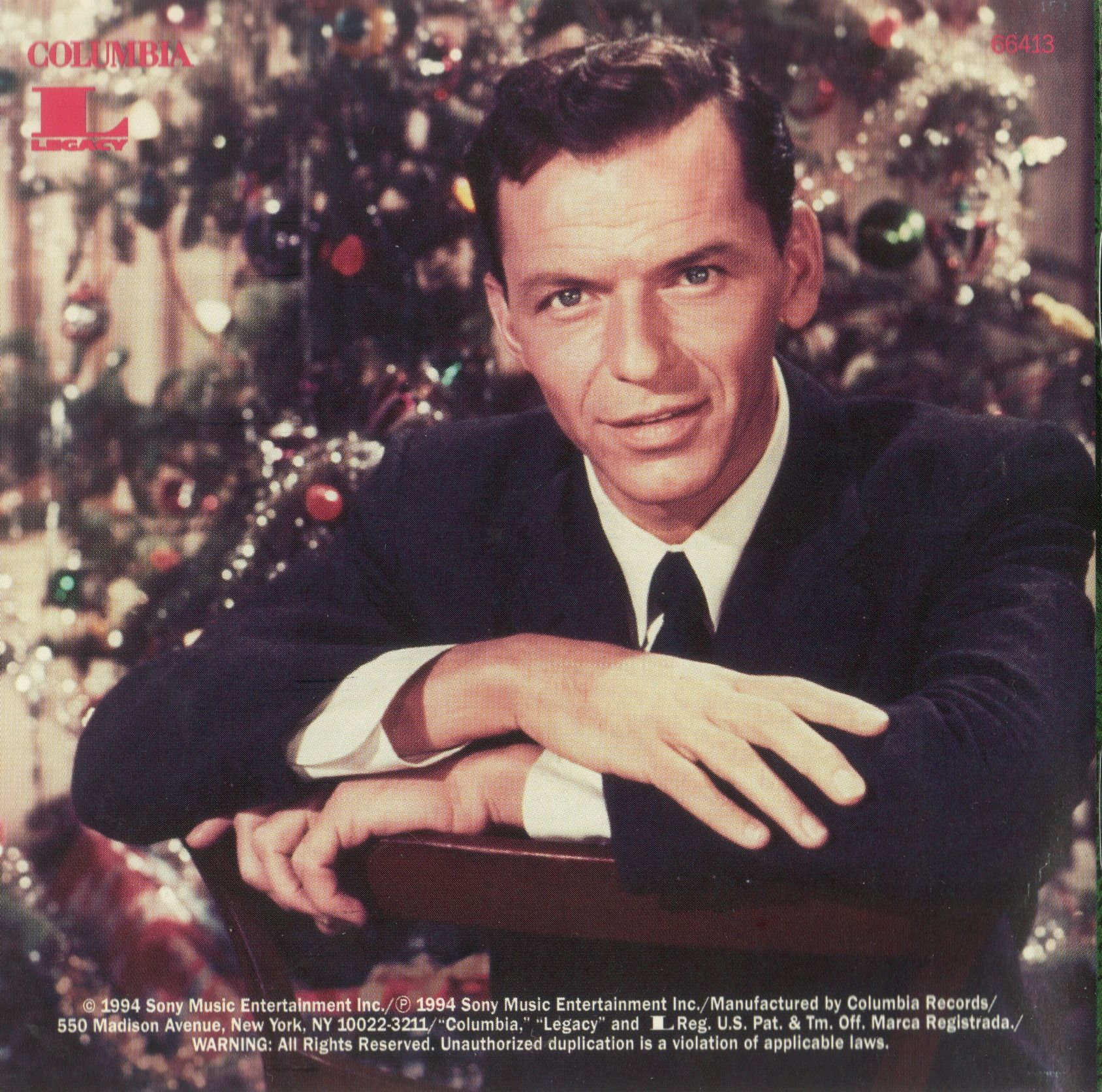 Frank Sinatra Weihnachtslieder.Frank Sinatra Christmas Songs By Sinatra 1948 Back Cover