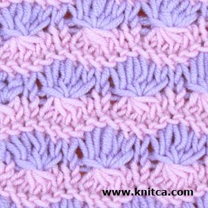 Slip Stitch 4. Here's a way to show off your needlework art. This pattern is a bit complicated but the result is definitely worth the effort. Amazing texture and color play will be a nice decoration for any garment.