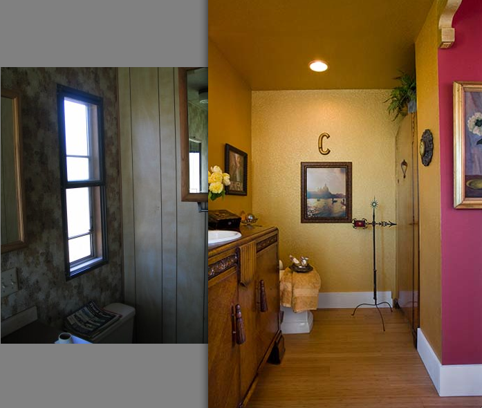 Inspiring before and after pics of an interior designer 39 s Mobile home interior walls