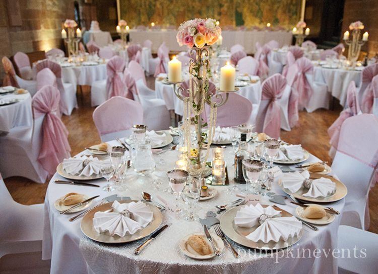 Pink Silver Wedding Organza Sashes In Dusty Pink Silver