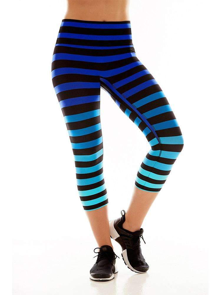 Capri In Alexis Stripe Retro Outfits Blue Leggings Bra Size Charts