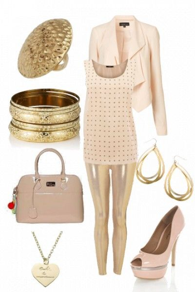 Pretty nude outfit #style