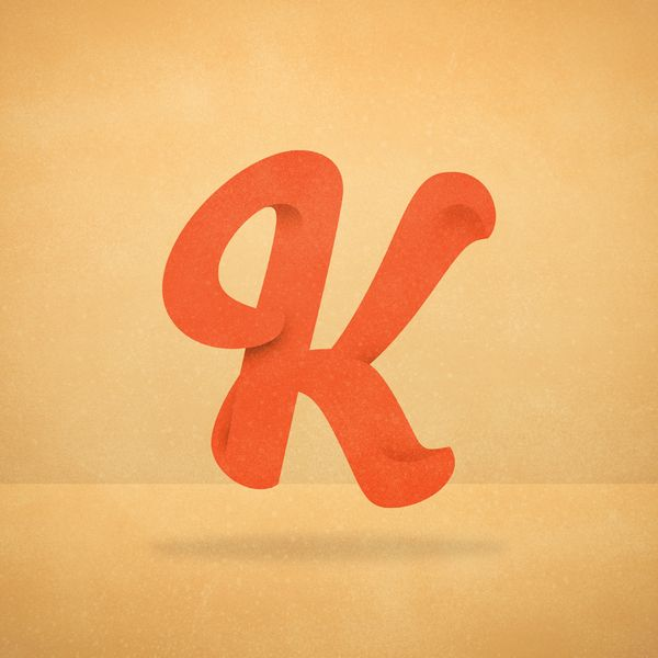 Just Letter K -personal typography work Kk Pinterest Typography - work letter