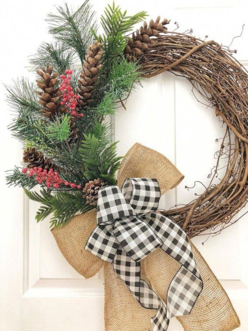 39 easy diy winter wreaths ideas to beautify your home