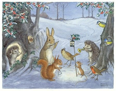 Illustration by Molly Brett. A group of musical animals assemble ...