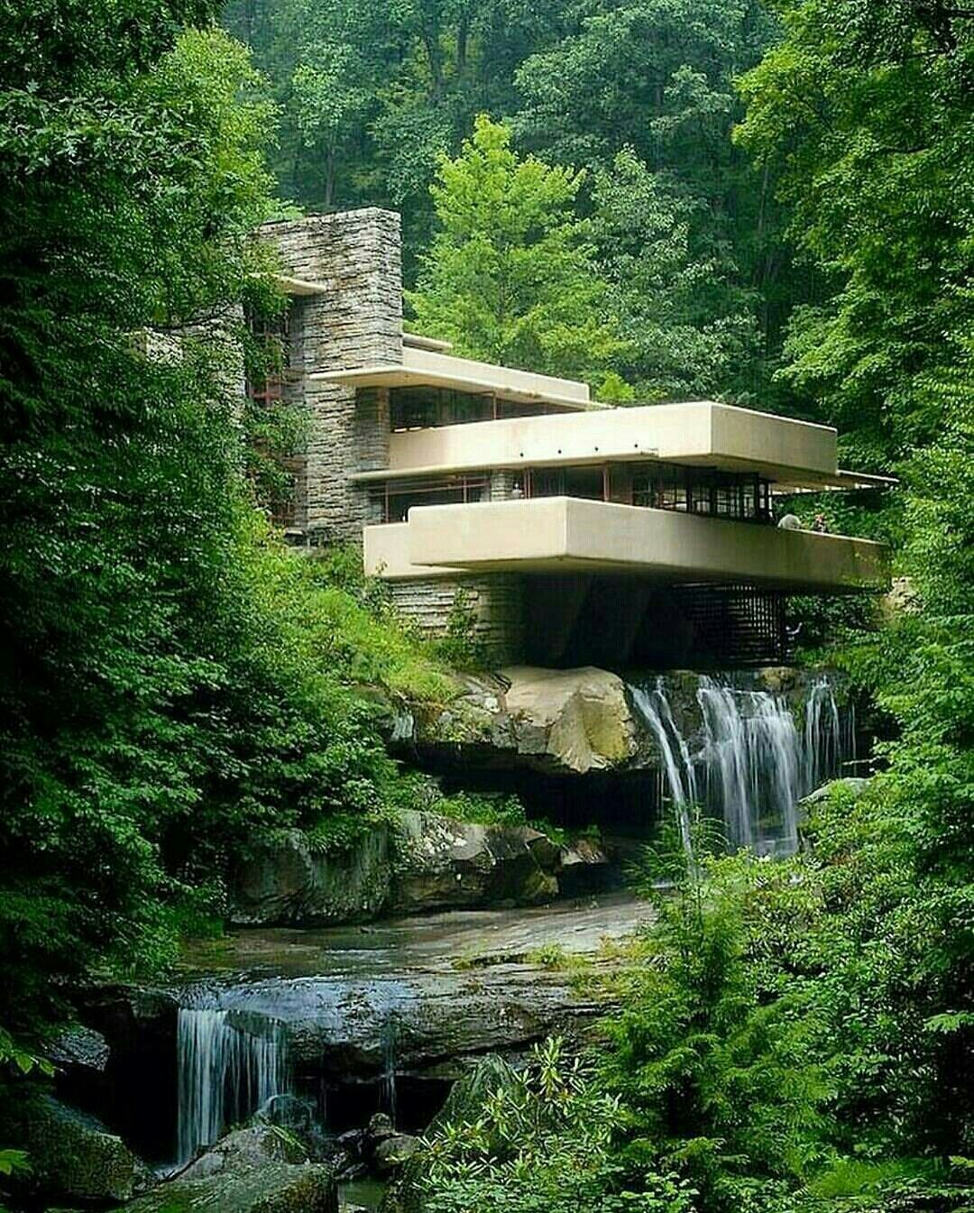 Falling Water House Usa Pin By Mary Ann Beets On Dream Houses Gorgeous Falling Water