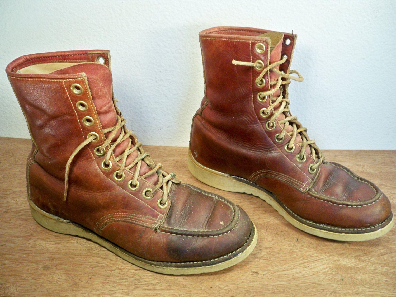Montgomery Wards Powr House Men's Leather Work Chukka Boots