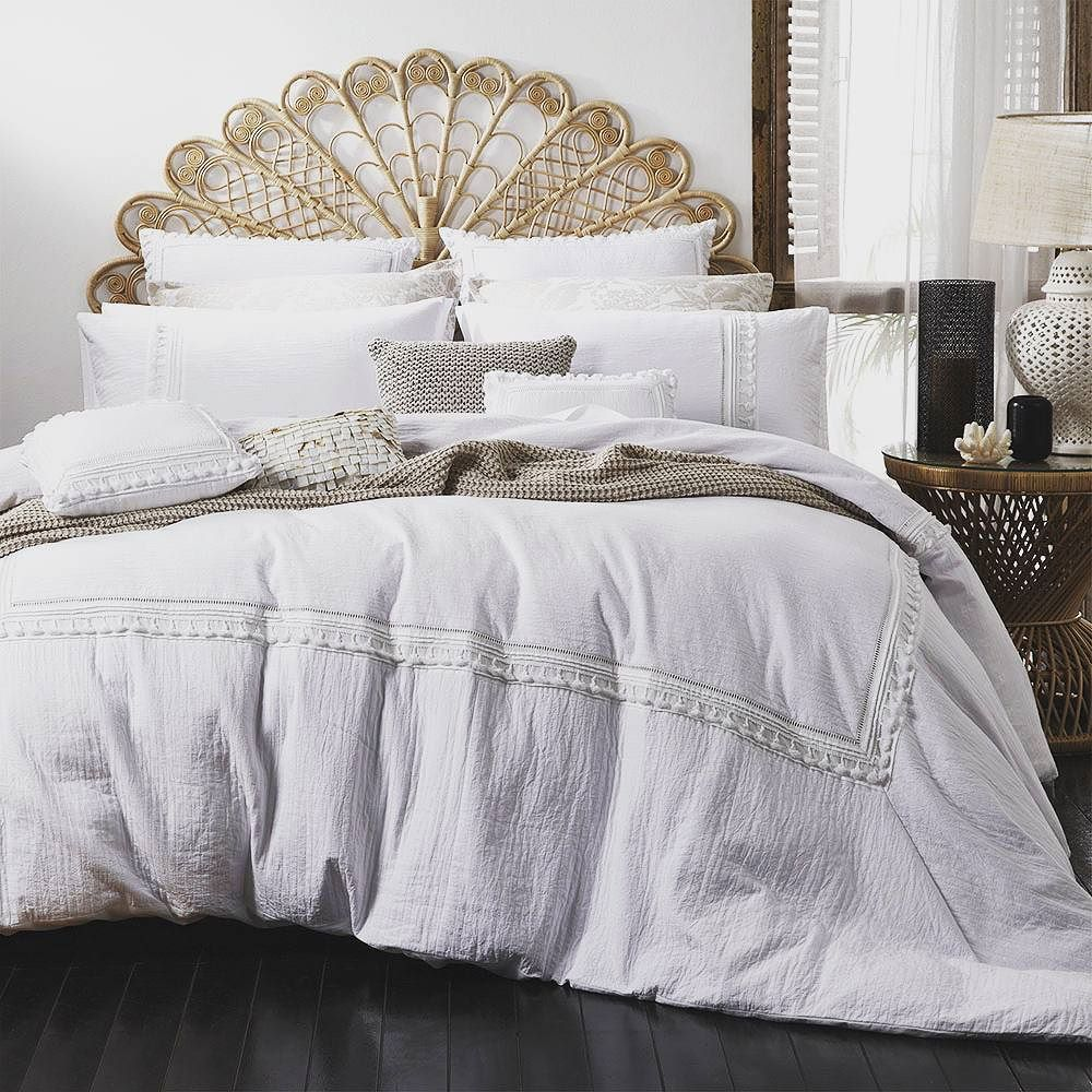 Nod to shabby chic.King quilt cover in store now.bedsrus