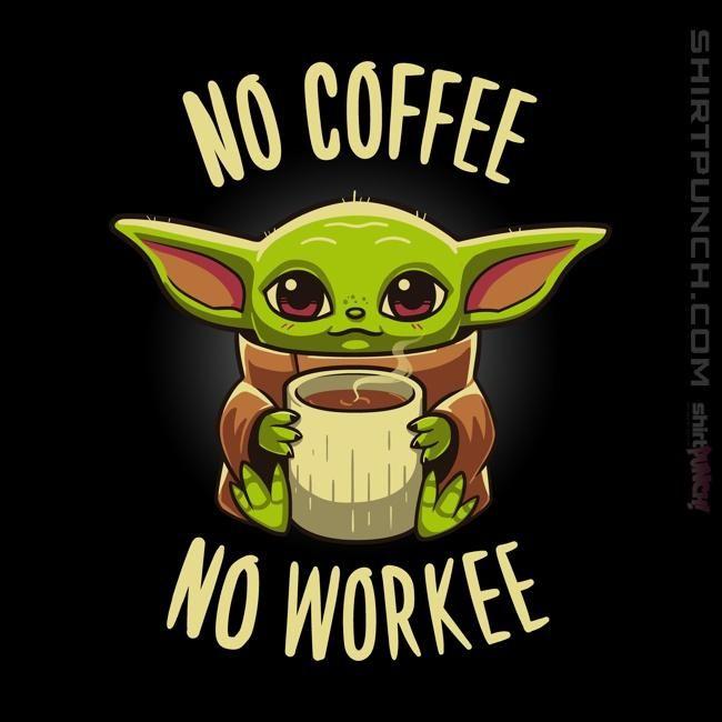Coffee Required In 2021 Cute Cartoon Drawings Yoda Wallpaper Yoda Drawing