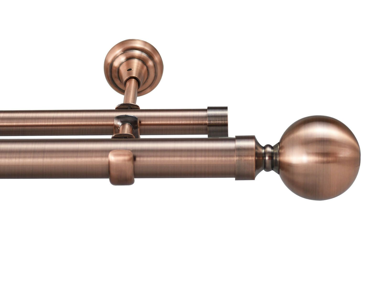 Details About Designer Metal Double Curtain Pole Day Night Rail