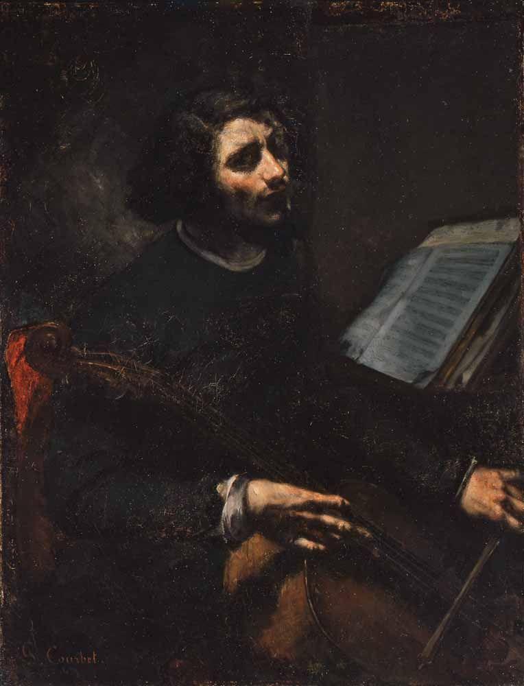 The Violoncellist - Gustave Courbet, 1847  Portland Art