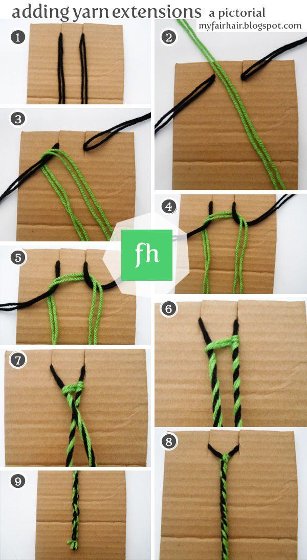 How To Create Yarn Extensions Hair Tutorials Pinterest Hair