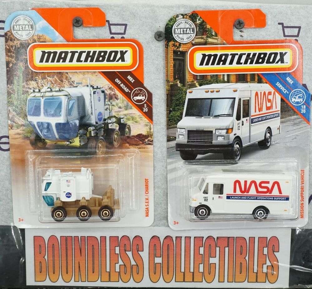 MBX Service NASA Mission Support Vehicle NASA VAN 2018 MATCHBOX 1//64 DIECAST CAR