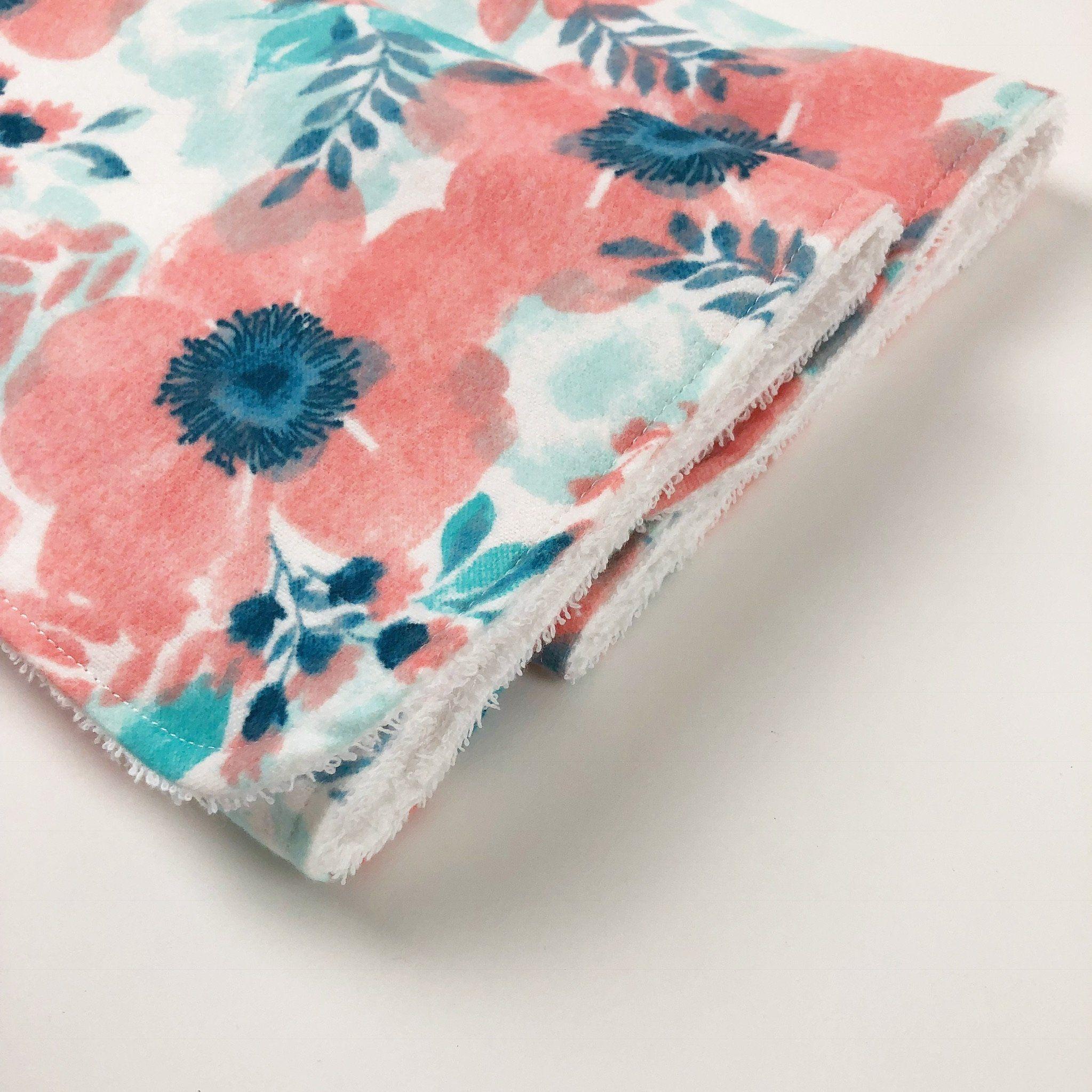 Pastel Floral Burp Cloth Set