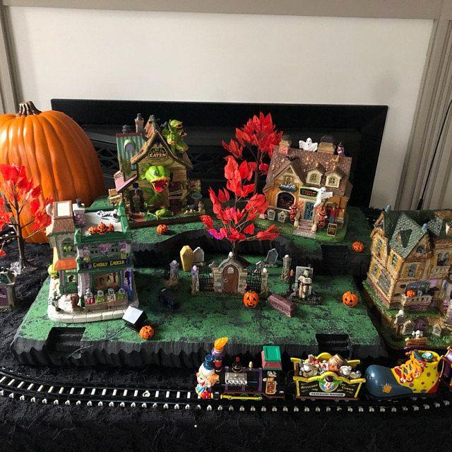 Christmas Village Display Platform for Lemax, Dept 56, Dickens, North Pole, Snow Village #halloweenvillagedisplay