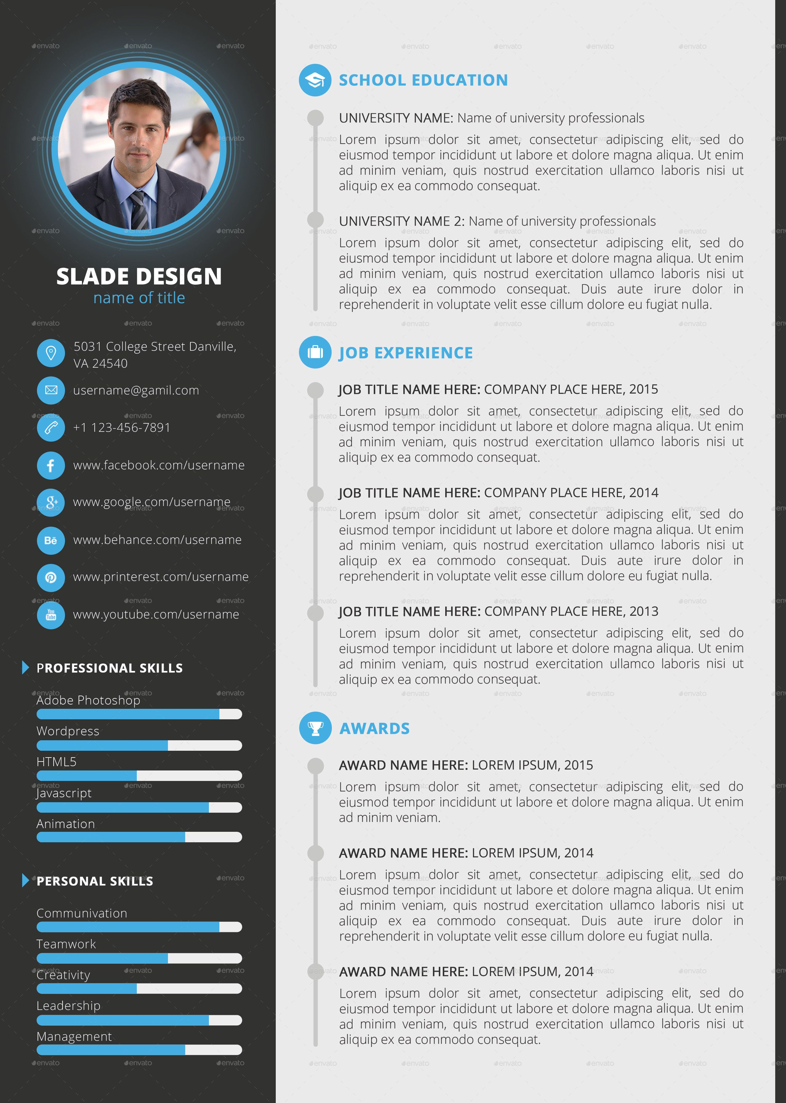 Template Professional Cv Cv Templates Sample Template Example Of