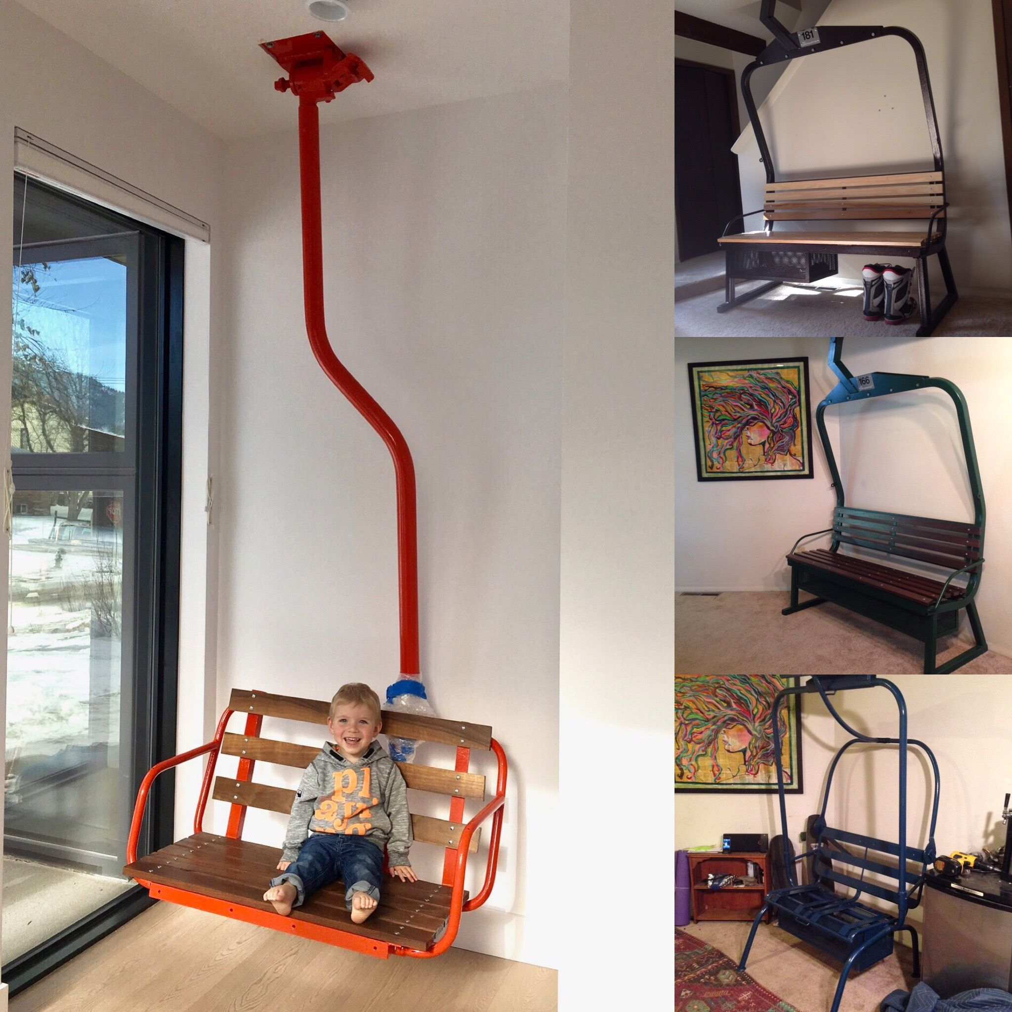 Superior Refinished Ski Lift Chairs By Last Chair Customs Of Boulder, CO