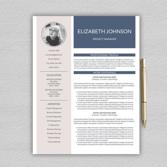Resume Template Professional Resume Template Cv Template Etsy Resume Template Professional Resume Template Professional Resume