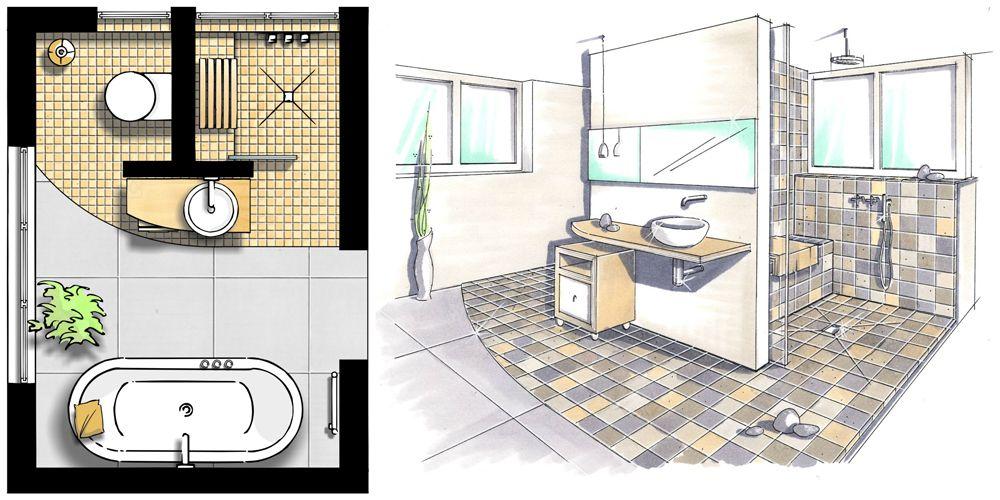 Hilfreiche Informationen zur Badgestaltung mit Badmöbeln - badezimmer grundriss planen
