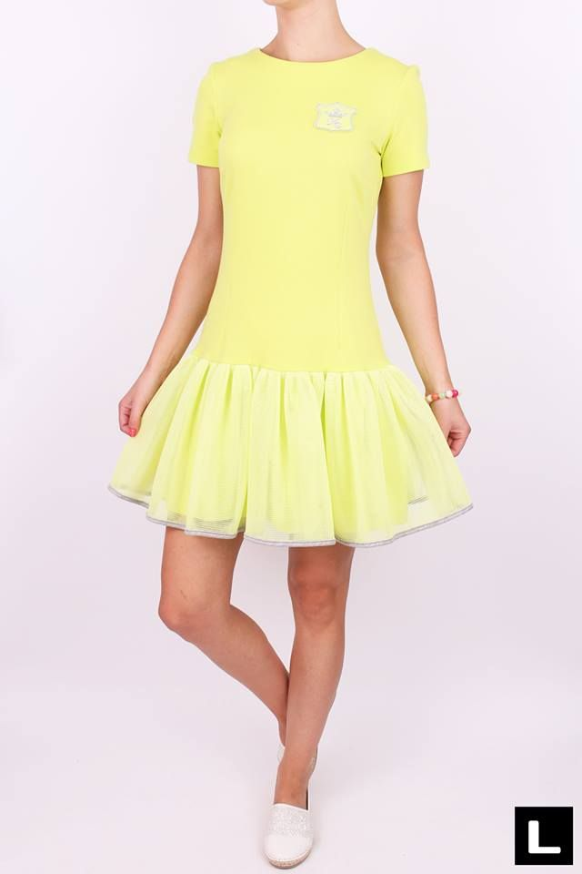 6abccf984f9c Bavlnené dámske šaty limetka