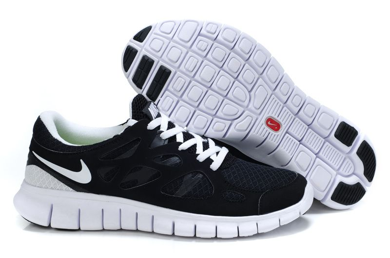 Black White Nike Free Run 2 Womens Running Shoes I know what your thinking.
