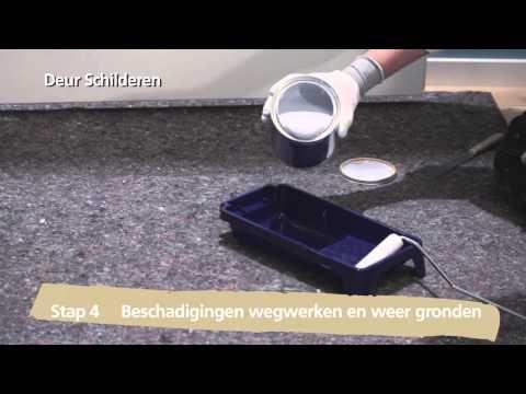 Paint plastic door and metal frame – YouTube