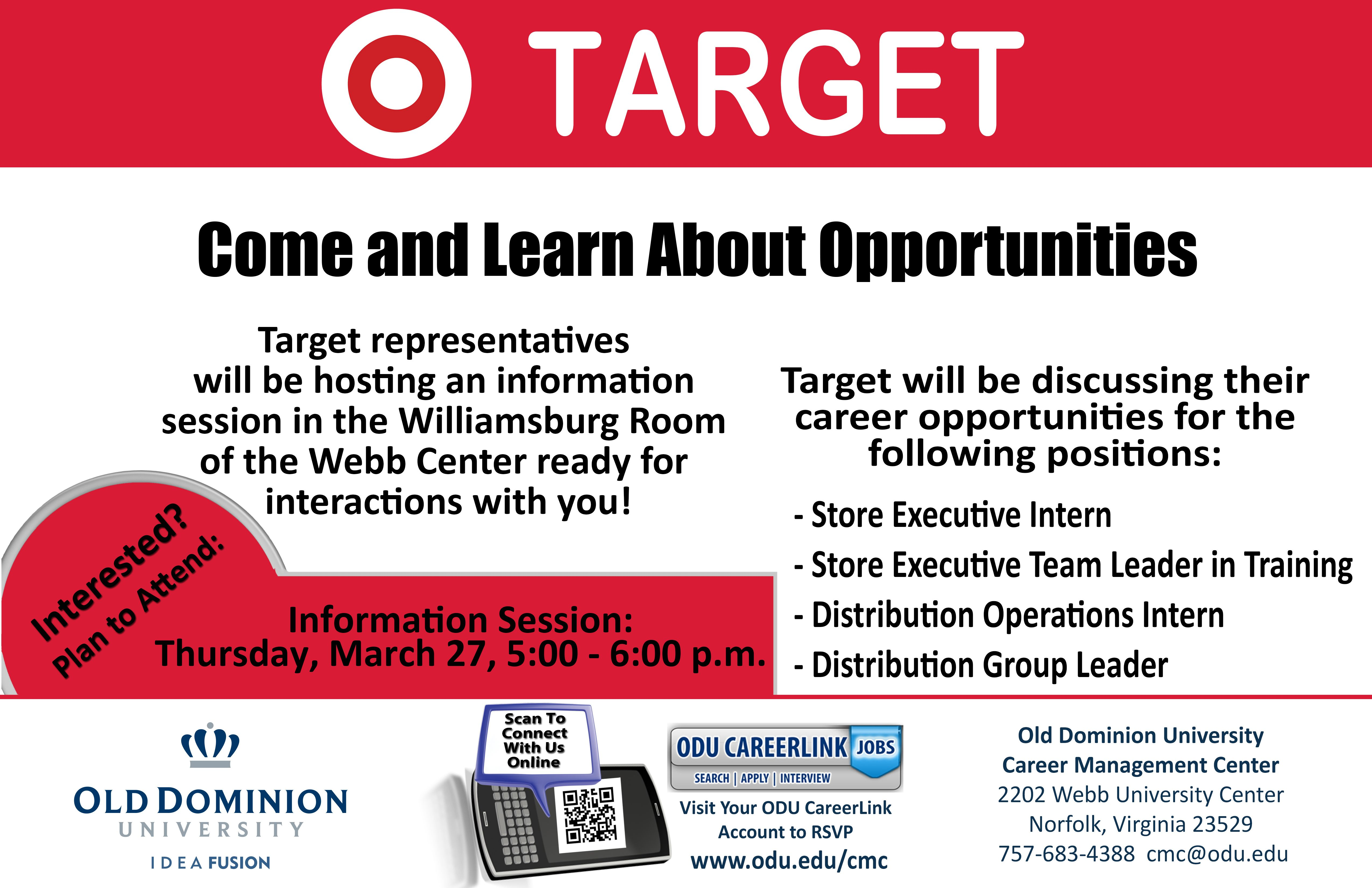 Do You Shop At Target Ever Considered Working For Target They Have Positions Open For Executive Interns Team Lea Team Leader Career Opportunities Positivity