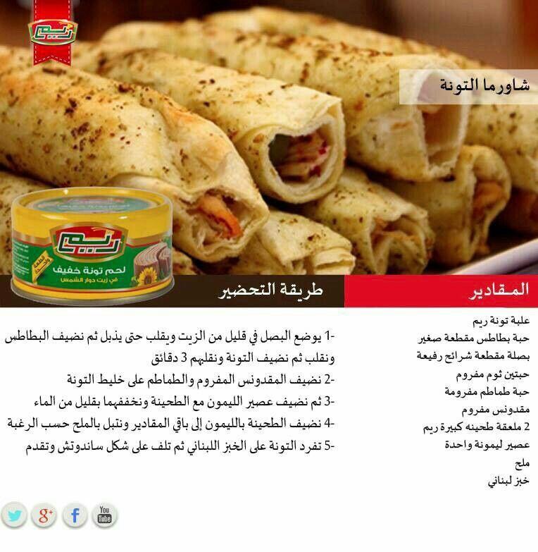 شورما تونه Recipes Food Meat