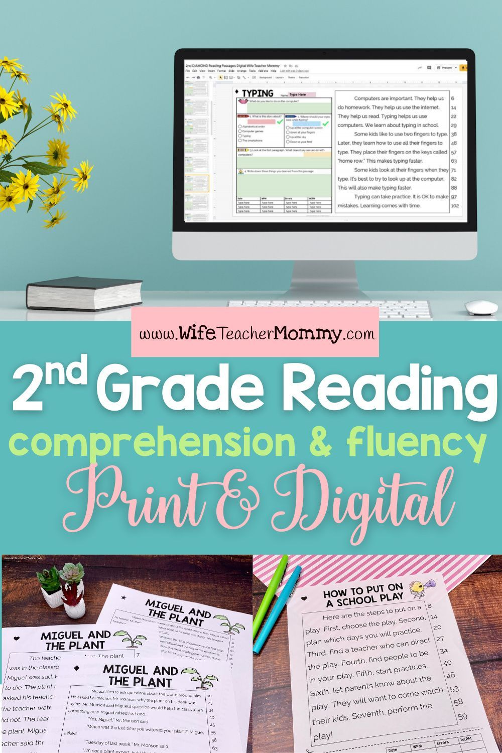 2nd Grade Differentiated Reading And Oral Fluency Print Digital Bundle Wife Teacher Mom In 2020 Differentiated Reading Reading Comprehension Oral Reading Fluency Free printable oral reading fluency