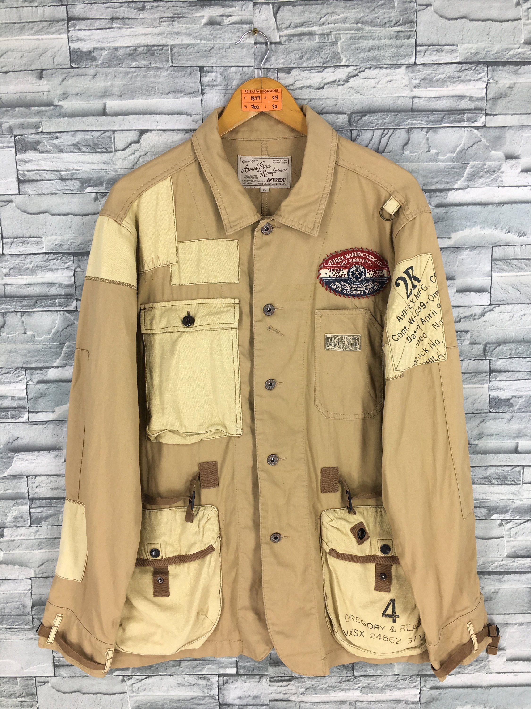 Vintage Avirex Usa Tactical Utility Jacket Xlarge Avirex Military Army Cargo Jacket Outerwear Multi Pocket Patchwork Outerwear Jackets Cargo Jacket Field Coat [ 3000 x 2250 Pixel ]
