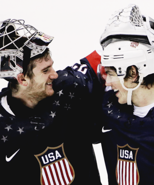 Jonathan Quick and TJ Oshie, Sochi 2014 - what amazing hands by Oshie and what an amazing win!