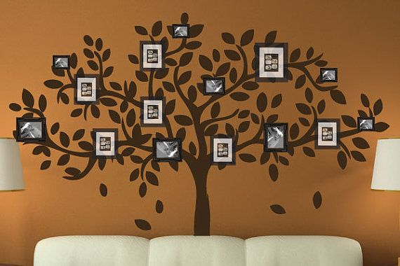 Modern Family Tree Wall Decal Sticker Picture Frame Tree Branch ...