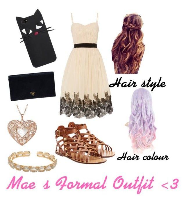 """""""Mae's Wonderful Formal Outfit"""" by xxanimeonlinexx on Polyvore featuring Little Mistress, Valentino, Prada and Bounkit"""