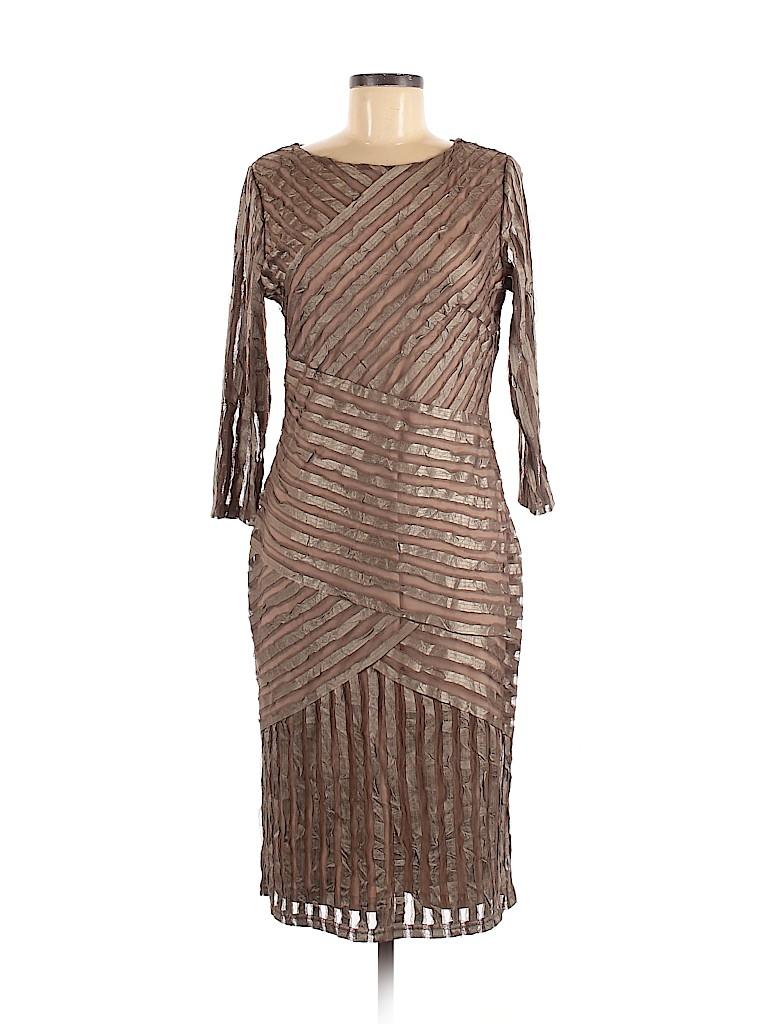 Reiss 100 Polyester Stripes Brown Tan Cocktail Dress Size 8 82 Off Striped Dress Dresses Cocktail Dress [ 1024 x 768 Pixel ]
