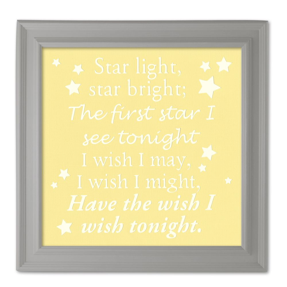 Star Light Quote Cameo Wall Art | Silhouette Cameo Die Cut Machine ...