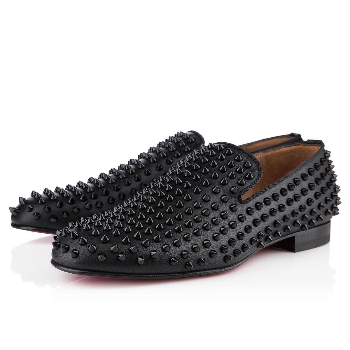 rollerboy spikes nappa noir noir souliers pour homme. Black Bedroom Furniture Sets. Home Design Ideas