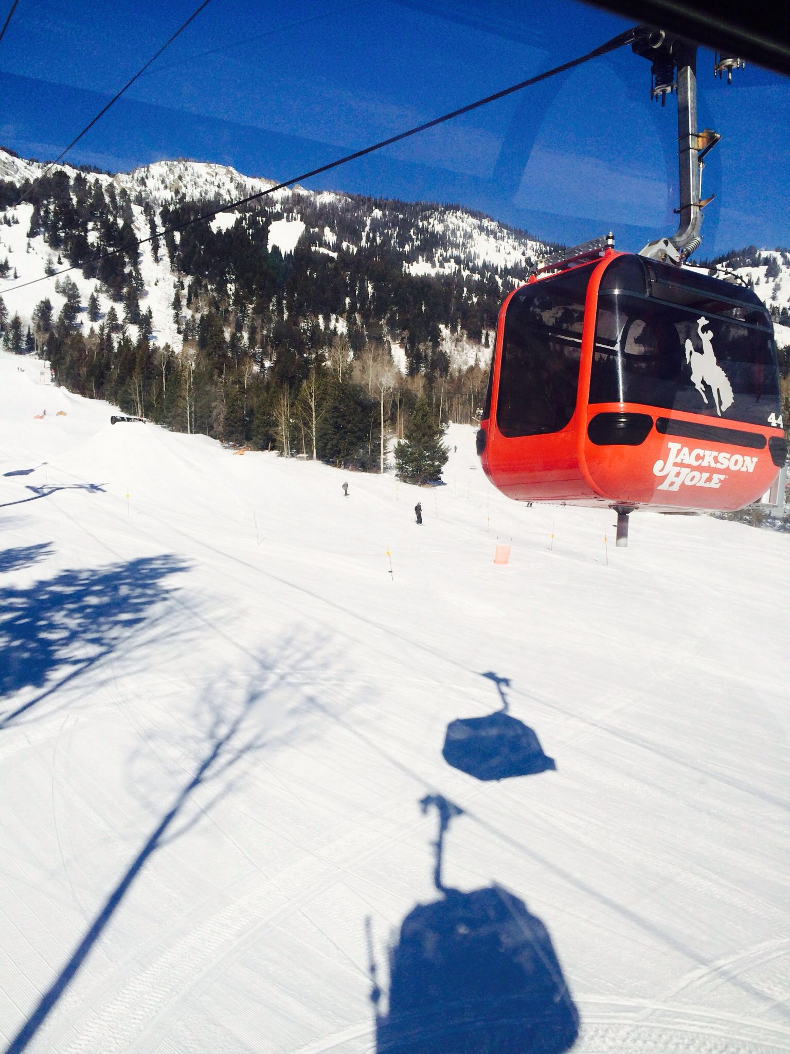 Gondola Ride Teton Village Up To Couloir Restaurant 2014