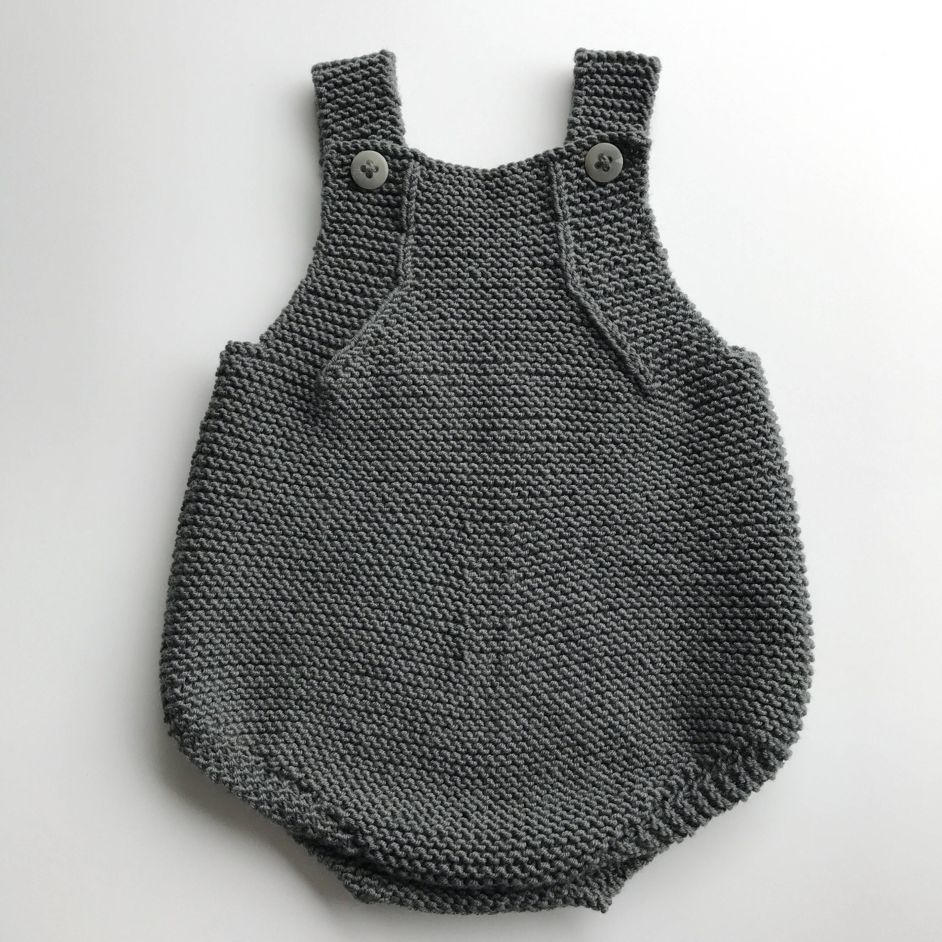 Baby Romper – Handmade newborn outfit Knitted summer romper