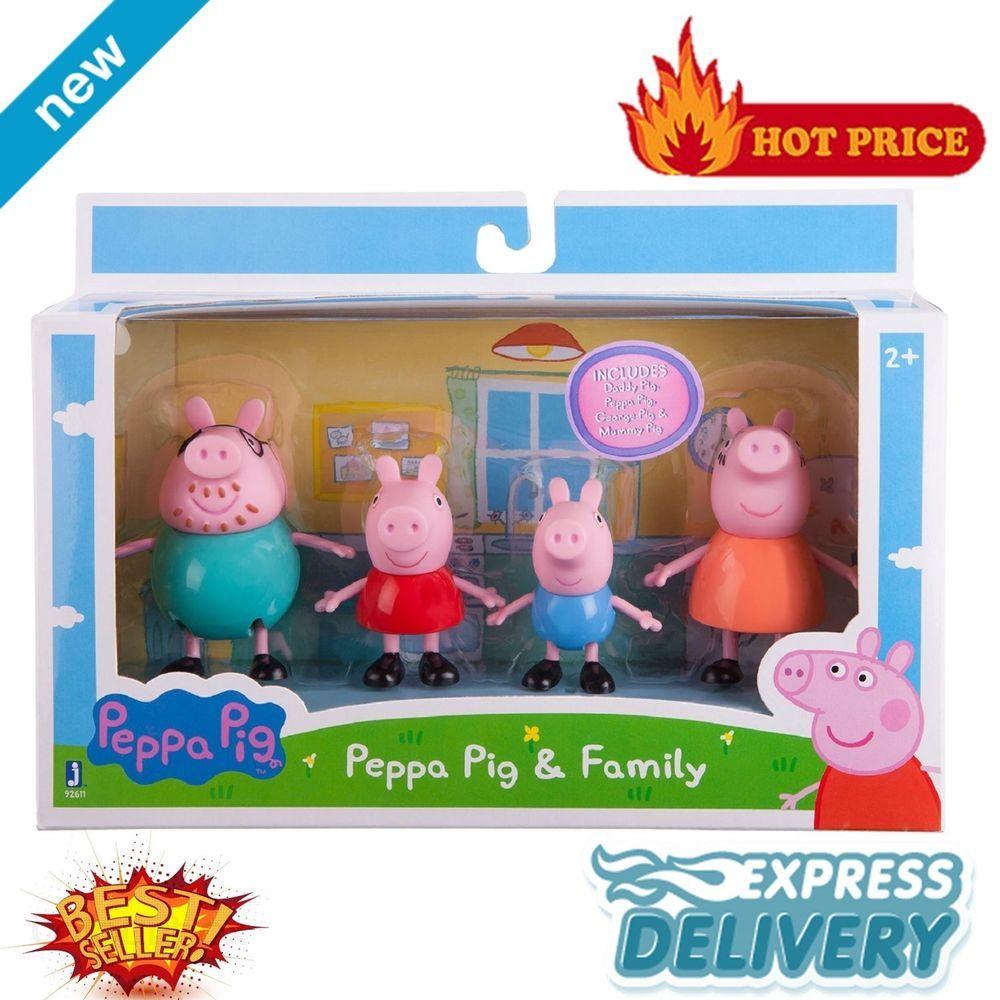 Peppa Pig Toy Family Pack Figures Toys Gift Set Daddy Mummy Kids Playset New Brinquedos Para Meninas Brinquedo Da Peppa Brinquedos [ 1000 x 1000 Pixel ]