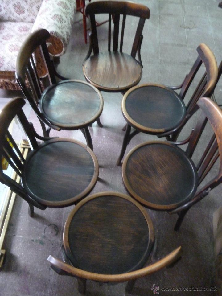 Seis sillas antiguas de madera foto 1 cadires - Sillas antiguas de madera ...